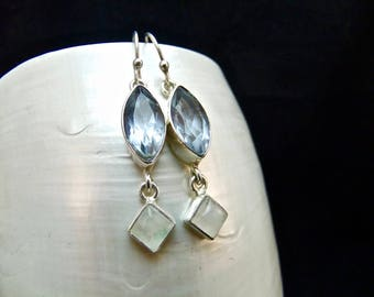 Alexandrite & Moonstone Sterling Silver Earrings