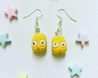 Lush inspired Tweet bubble bar earrings, handmade, ooak, original, unique