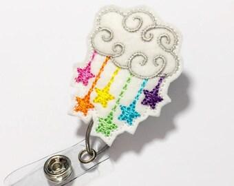 Rainbow Nurse badge reel cute badge reel retractable badge holder id badge holder badge reels badge clip name badge reel name