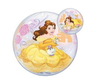 Disney Princess Belle Balloon 22 inches in diameter Beauty and the Beast Party Decorations Photo Props or Centerpieces