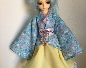 MSD BJD Doll Dress Wa-loli Kimono