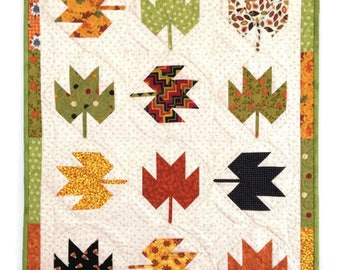 Quilted Scrap Wall Hanging, Quilted Wall Hanging,  Fall Wall Hanging