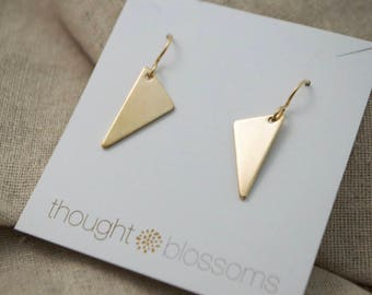 Triangle Earrings - Geometric - Dangle