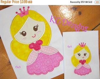 ON SALE Fairy Princess 2 Machine Applique Embroidery Design - 4x4, 5x7 & 6x8