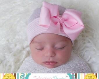 SALE 25% OFF Newborn hat newborn hospital hat with bow newborn girl newborn girl hat hospital newborn hat newborn hat baby hat infanteenie b