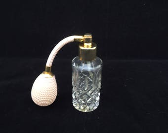 """Vintage Stuart Crystal Atomiser, Stuart Crystal """"Shaftesbury"""" Design Scent Bottle, Stuart Crystal Perfume Bottle"""