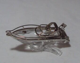 Retired Swarovski Crystal Moments Speedboat 272554
