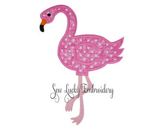 Flamingo patch - Flamingo iron on patch - Flamingo sew on patch -  Applique -  Embroidered patch - Animal patch - Pink Flamingo patch