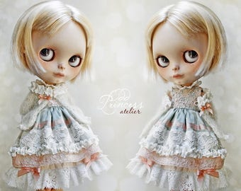 PARADISE FLOWER Blythe/Pullip Jacket By Odd Princess Atelier, New Hand Knitted Collection