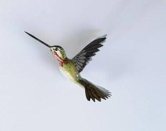 Hummingbird Magnet - Calliope 3D Refrigerator Magnet Kitchen Decor Collectible Bird Magnet Handmade Art Office Magnets