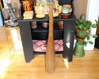 Large Wood Masher Kraut Stomper 40 Inch Vintage Rustic Farmhouse