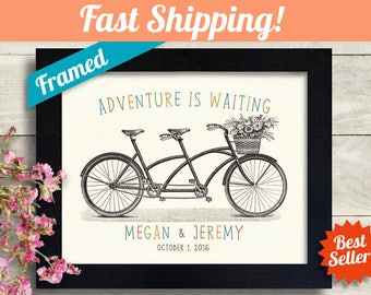 Unique Personalized Wedding Gift, Bridal Shower Engagement Gift Personalized for Couples Gift, Married Couple Art Print First Anniversary