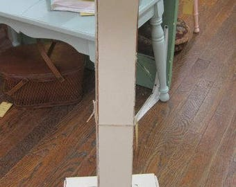 Hand Painted Plant Stand Pedestal Shabby Chic Bohemian Cottage FREE Shipping