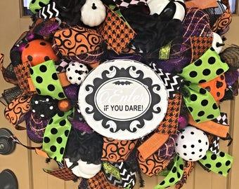 Halloween Deco Mesh Wreath ~ Halloween Wreath