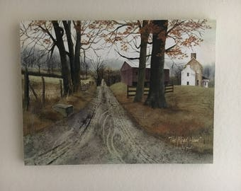 Vintage Art, Wall Art, Vintage Psinting, Billy Jacobs, The Road Home, on Canvas