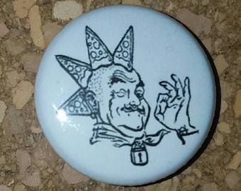 "Rainbow Pizza Punk 1"" Pin, Pinback Button"