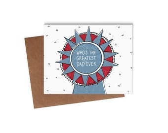 Father's Day Card - Best Dad Ever - Funny Greeting Card - Digitally Printed A2 Cards w/ envelope