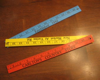 Folding Wood Ruler Carlton's Country Store, 36-Inch, Advertising