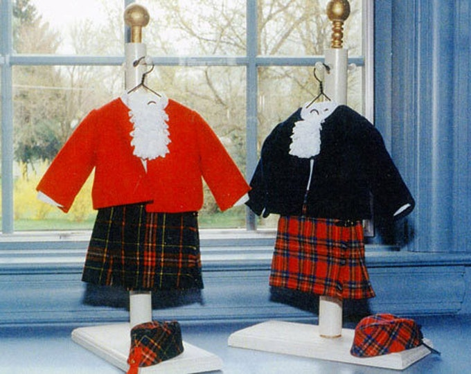 "Doll Pattern / Digital  / Kiltie Pattern  / 18"" Doll /  Kilt / Jacket / Blouse / Hat  Patterns / by Carol Clements"
