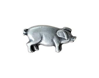 Metal Pig Button 25mm x 12mm