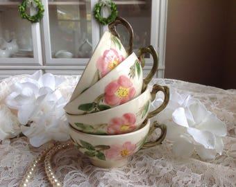 Franciscan Desert Rose USA backstamp Cups Set of 4