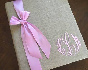 Monogrammed Baby Book