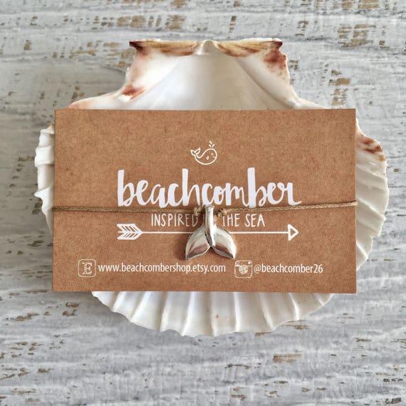 wish bracelet or anklet, whale tail bracelet, friendship bracelet, party favor, bridesmaid gift, beach jewelry