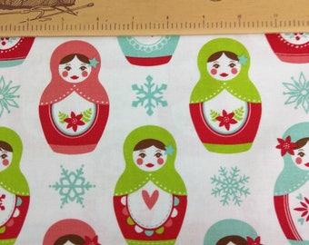 Merry Matryoshkas - Fabric