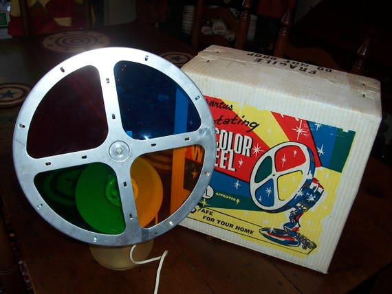 Vintage 1960's Spartus Motorized Color Wheel... Aluminum Tree Light....Complete with Box..Works and Looks Good...