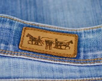Vintage Levi 571 Jeans Slim Fit Zip Fly Blue (Patch W28 L32) W 28 L 31 UK 10