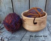 Hand Turned Wooden Yarn Bowl, Ash