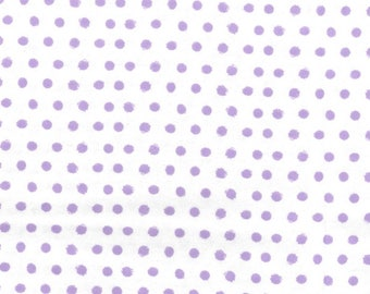 Snuggle Flannel Fabric - Smudged Purple Dot - 35 inches