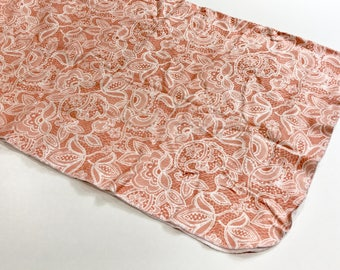 Coral Lace Organic Cotton Knit Swaddle Blanket