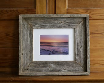 "High Bar Sunrise: 5x7"" photo framed in reclaimed cedar"