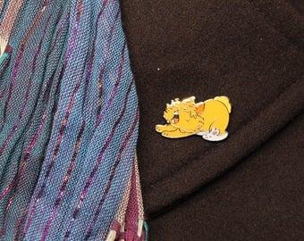 Lionhead Roar Yawning Bunny Rabbit Enamel Pin - House Rabbit - Soft Enamel Pin - Bunny lapel pin - Bunnies gift
