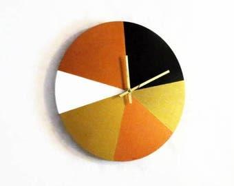 Modern Wall Clock, Trending Geometric Clock, Home Decor, Decor and Housewares, Rainbow Clock