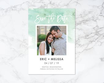 Printable Watercolor Save the Date Invitation