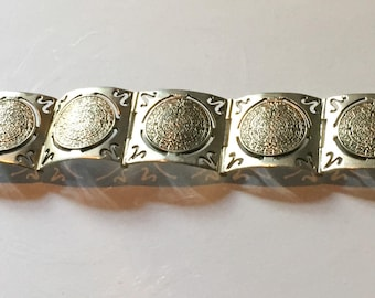 Mexican Sterling Silver Bracelet, Taxco Vintage Jewelry Mothers Day SPRING SAL