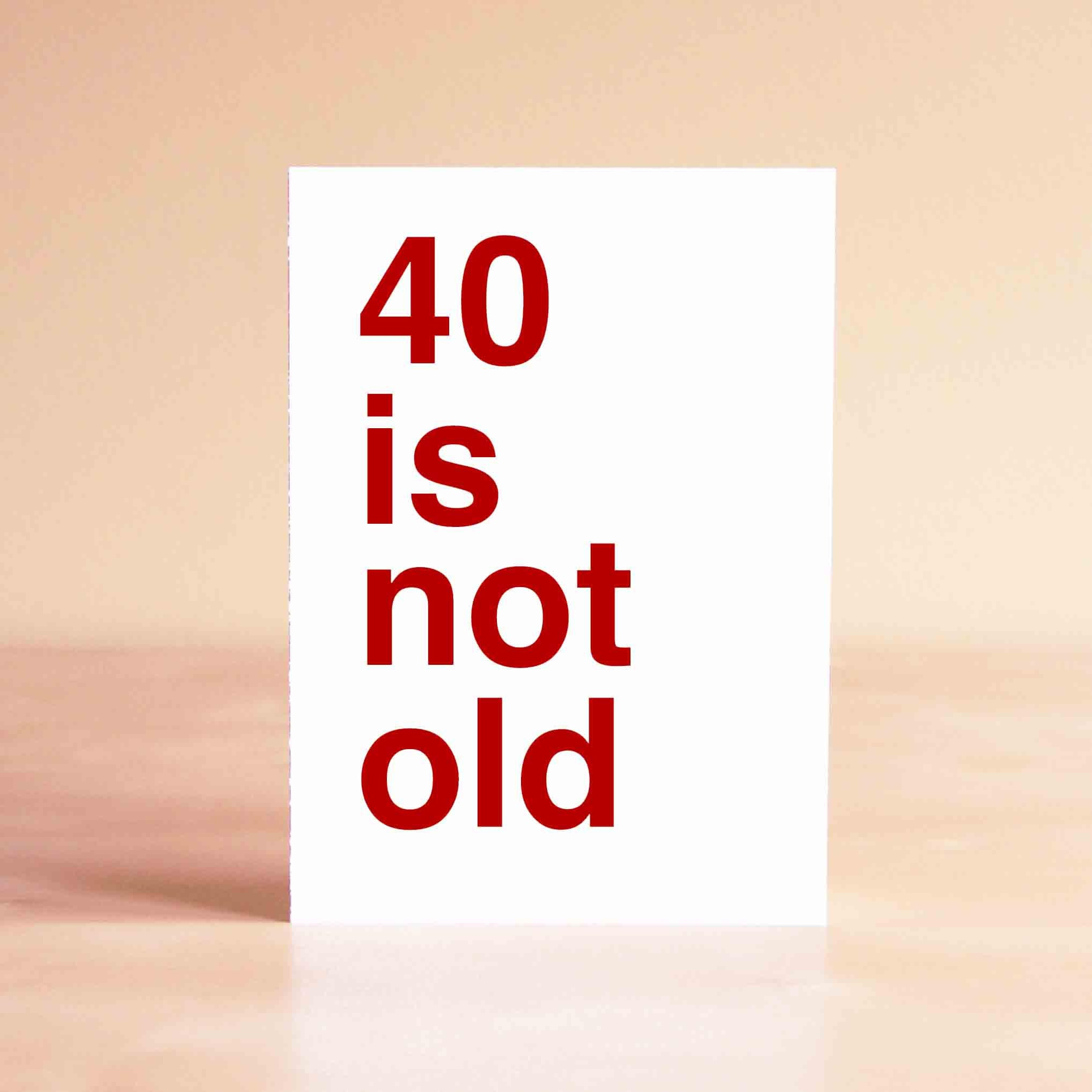 Funny 40th Birthday Card - Funny Birthday Card - Birthday ...