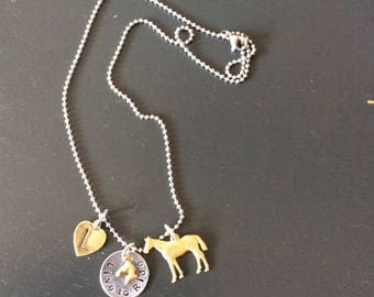 Special Meg horse charm/ Horse Jewelry  Jumper Rider Equestrian Horse Lover