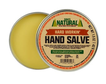 Sam's Natural - Hard Workin' Hand Salve - Gifts - Natural, Vegan + Cruelty-Free