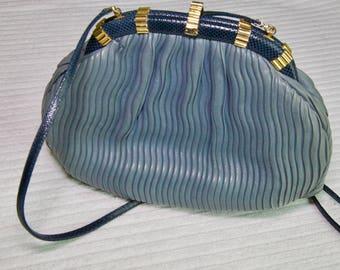 Vintage Judith Leiber Leather Evening Purse