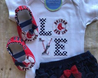 Boston Red Sox baby gift set