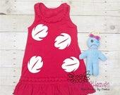 Hawaiian Girl Costume, 6m-6x, Doll included, Scrump, Red Hawaiian Dress, Hawaiian Cosplay
