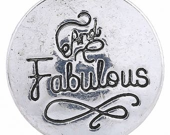1 PC - 18MM And Fabulous Silver Charm for Snap Jewelry KC6123 CC3657