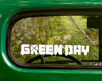 GREEN DAY Decal, 2 Stickers, Metal Band Decal, Music, Vinyl Sticker For Car Truck Rv Jeep Bumper Window