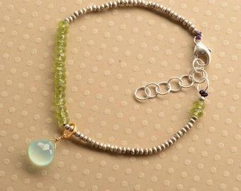 Chakra Bracelet, Summer Bracelet, Healing Gemstone Bracelet, Peridot Bracelet, August Birthstone, Yoga Bracelet, Yoga Jewelry