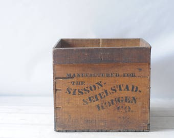 Antique Egg Carrier Wood Box Crate Sisson-Seielstad-Hougen Grocers Circa 1910