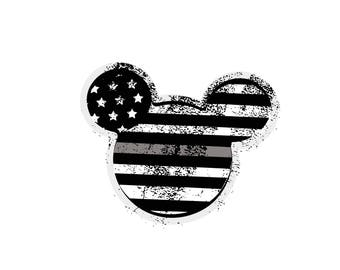 Thin Blue line disney mickey and mickey ... .. JPEG and PNG downloads...