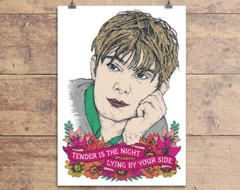 Damon Albarn Blur Greeting Card - Blur Lyric Birthday - Valentine's Day - Anniversary - Love - Greeting Card